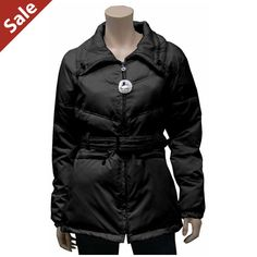 $39.99 Women;s down filled winter jacket with belt in black only Motorcycle Jacket, Winter Jackets, Belt, Clothes For Women, Clothing, Accessories, Black, Fashion, Winter Coats
