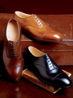A gentleman is never caught without his classic cap toes...never!!
