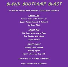 Bootcamp Style Workout - from BLEND Retreat workouts