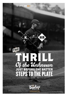 The Thrill by Bethany Heck - There are an infinite number of possible outcomes when a player steps to the plate. Will he strike out? Looking or swinging? Will he get a hit? To which part of the field? The Eephus League loves this aspect of baseball and wants to celebrate it with this 12×17 poster.