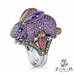 Purple Rabbit Ring from ZorabCreation