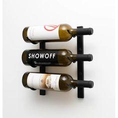 Rebrilliant Indurial 3 Bottle Wall Mounted Wine Bottle Rack & Reviews | Wayfair