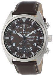 Seiko Men's SNN241 Analog Display Japanese-Quartz Brown Watch