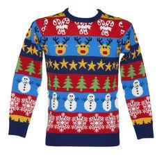 Unisex Retro Christmas Jumper from Cheesy Christmas Jumpers. Gotta have a fun christmas jumper