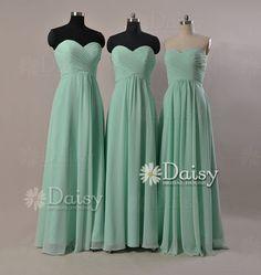 Long Mint bridesmaid dressesCustom Mint Green by DaisyBridalHouse