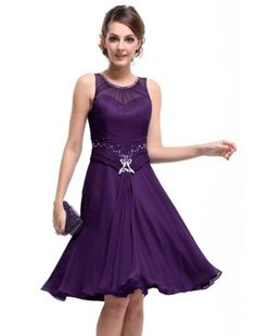 Ever Pretty Padded Rhinestones Ruffles Short Bridesmaid Dress 03521