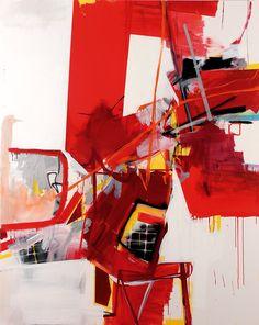 Rob Nadeau - Canned Heat, 2007, acrylic, spray paint & mixed media on canvas