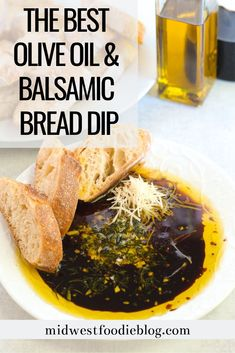 olive oils Olive oil and balsamic vinegar combine with herbs and garlic for the easiest and most delicious appetizer you've ever had! Best enjoyed with crusty French bread and a big glass o Olive Oil Dipping Recipe, Bread Dipping Oil, Bread Oil, Bread Appetizers, Yummy Appetizers, Appetizer Recipes, Olives, Olive Oil Dip For Bread, Tapas