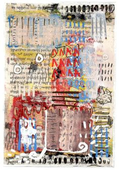 ARTFINDER: 'Bartemeyer' by Simon Kirk - This work is primarily layers of painting combined with collaged elements. However, I also use the decollage technique - I build up layers of composition, co...