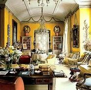 nancy lancaster- the world of interiors. The most famous yellow room ever Interior Exterior, Home Interior, Interior Design, English House, English Style, English Cottages, Country Style Homes, Style At Home, Country Life