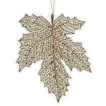 CANVAS Gold Metallic Maple Leaf Ornament