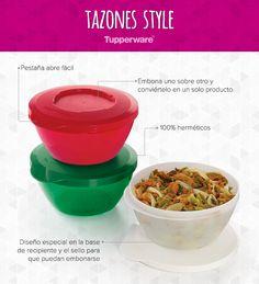 Une, guarda y sirve con los Tazones Style. #Tupperware #Cocina