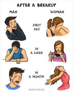 Illustrator draws 14 differences between men and women | Vuing.com