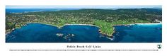 Pebble Beach Golf Course Skyline Panoramic Print- Awesome and Beautiful! This Is a Must for Any Home or Office Decor!