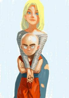 Androide 18 & Krillin