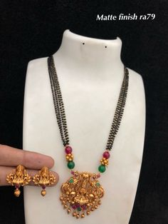 Temple Jewellery available at Ankh Jewellery For booking WhatsApp on Gold Jewelry Simple, Coral Jewelry, Beaded Jewelry, Jewelry Necklaces, Beaded Necklace, Ruby Necklace Designs, Temple Jewellery, Gold Jewellery, Gold Models