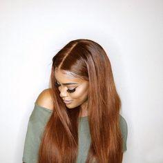 custom long straight blend full lace wig