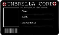 Resident evil ID card by Black-Beaver1 on deviantART