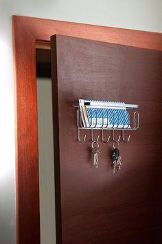 porta chaves organizador de correspondências para parede