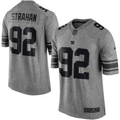 Nike Michael Strahan New York Giants Gray Gridiron Gray Limited Jersey fc2a816ce