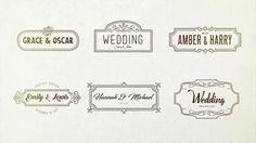 Wedding Handdrawn Titles 36 애프터 이펙트 프로젝트