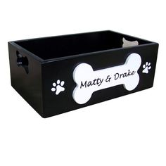 Personalized Wooden Dog Toy Storage Box By SassyFrassStudio
