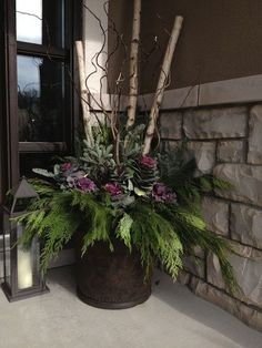 Best Front Porch Flower Planter (Best Front Porch Flower Planter) design ideas and photos Front Porch Flower Planter Ideas 36 (Front Porch Flower Planter Ideas design ideas and photos Winter Planter, Fall Planters, Outdoor Planters, Flower Planters, Flower Pots, Indoor Outdoor, Outdoor Ideas, Outdoor Spaces, Flower Ideas