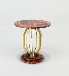 Side Table in brass and Red Onyx base and top Geneve Collection arredi-m2l.it  #luxury #luxuryfurniture #luxuryhome #madeinitaly #contemporarysidetable #sidetable #designinspiration