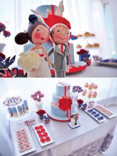 "Ignore the bride and groom...these are ideas for Colt's ""British boy"" themed 1st birthday party."