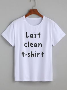 White Letters Print T-shirt Mobile Site