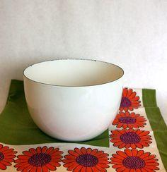 White enamelware bowl by Kaj Franck for Finel of Finland. I have this bowl