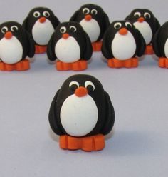 PDF Polymer Clay Tutorial - How to Make PENGUIN Beads or Charms for Jewelry Making