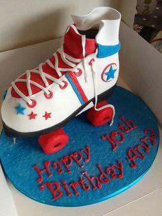 Roller boot Birthday Cake
