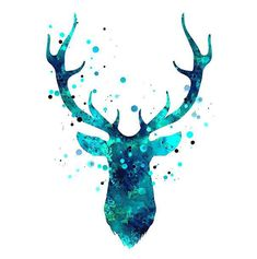 Cool and creative deer head. Color: Blue. Tags: Creative, Beautiful, Awesome