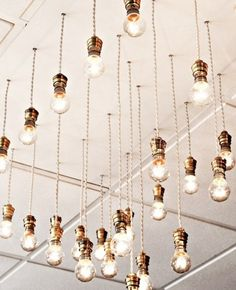 Decor Inspiration: Exposed Bulbs / See more inspiration & a list of decor hire companies on The LANE