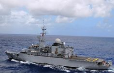 French Marine Nationale frégate de surveillance - surveillance frigate (FS) Floréal, on 18 April 2014, rejoining Operation Atlanta, the anti piracy patrols off the Horn of Africa.France has a quasi permanent presence with the force of at least one frigate, & often reinforced by marine patrol aircraft such as Atlantique 2 or Falcon 50.