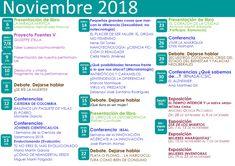 Calendario de actividades noviembre 2018. Bullet Journal, Proposals, Bridges, November, Calendar, Activities
