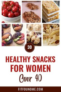 Women who are over 40 should always be conscious of eating healthy foods including healthy snacks. Read it!