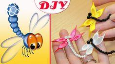 Kanzashi flowers Dragonfly Kanzashi DIY