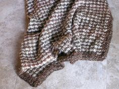 Houndstooth Knit Blanket pattern