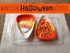 Montessori Halloween Activities