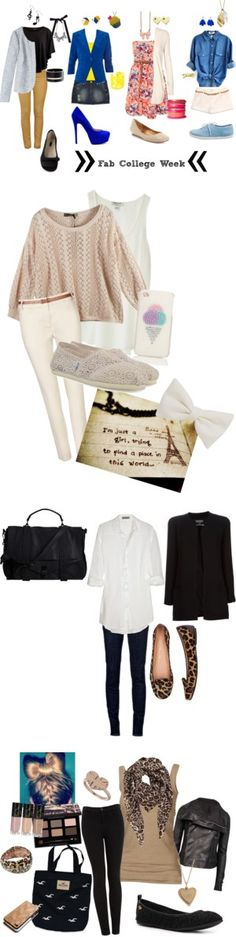 """""""College Outfit"""" by tatasantiago on Polyvore"""