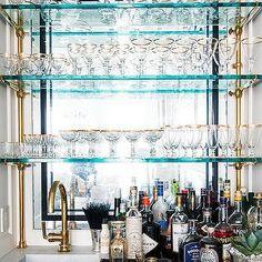 Blue Bar Shelves - Design, decor, photos, pictures, ideas ...