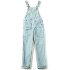 Chloe Kids Overalls ($225) ❤ liked on Polyvore featuring jumpsuits, rompers & jumpsuits, playsuit romper, overalls jumpsuit, blue romper, jumpsuit overalls and bib overalls