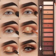 New urban Decay eye shadow pallette makeup tutorial. The perfect fall dinner party eye makeup inspo & pictorial. - New urban Decay eye shadow pallette makeup tutorial. The perfect fall dinner party eye makeup inspo & pictorial. Party Eye Makeup, Eye Makeup Steps, Simple Eye Makeup, Natural Eye Makeup, Bronze Eye Makeup, Party Makeup Looks, Urban Decay Makeup, Urban Decay Eyeshadow, Eyeshadow Makeup