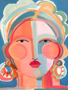 An Interview With Artist Hayley Mitchell Face Illustration Art Illustrations Fun Art Room
