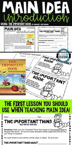 5 Fail-Proof Ways to Teach Main Idea - A Love of Teaching Reading Intervention, Reading Skills, Teaching Reading, Guided Reading, Reading Groups, Reading Workshop, Reading Resources, Kids Reading, Teacher Resources