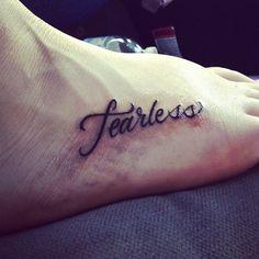 fearless tattoo | Tumblr