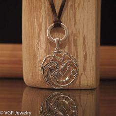 Game of Thrones Ketting Draken: verstelbare leren ketting bruin of zwart
