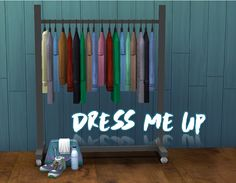Dress Me Up set includes a clothing rack and a gym bag converted from TS3 to TS4 as functional dresser by Simslikeithot.